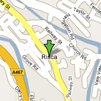 Risca Map